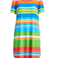 STRIPED COTTON NIGHTGOWN