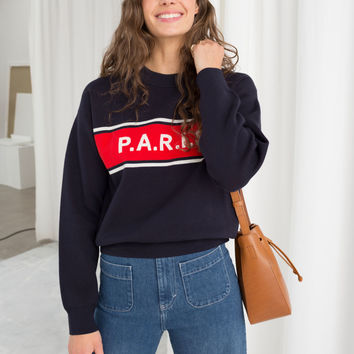 Paris Pullover - Navy / Red - Sweatshirts & Hoodies - & Other Stories US