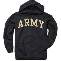 Army Black Knights Black Arch Hooded Sweatshirt