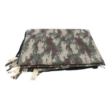 Heavy Duty Waterproof Truck Camouflage Tarp with Grommets, UV Resistant, Outdoor Tarpaulin Cover for Boat, Camping, Tent