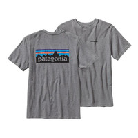 Patagonia P-6 Logo Cotton T-Shirt- Gravel