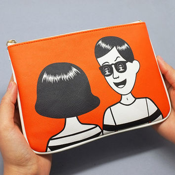 Oohlala Funny illustration mini pouch bag ver.2 - tabom sunglass