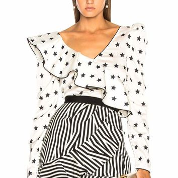 Ronnie Black And White Star Blouse