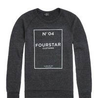 Fourstar No. 04 Triblend Crew Fleece - Mens Hoodie - Black