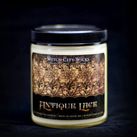 Antique Lace jasmine vanilla musk scented soy candle