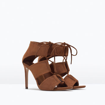 WRAP AROUND LEATHER SANDAL