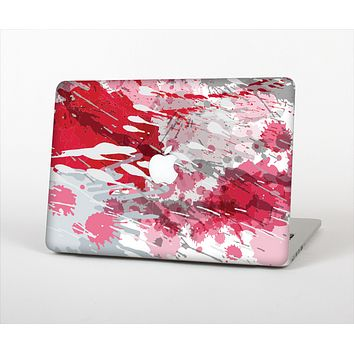 The Abstract Red, Pink and White Paint Splatter Skin for the Apple MacBook Pro Retina 13""