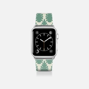leaf damask off white mint apple watch band Apple Watch Band (38mm) by Sharon Turner | Casetify