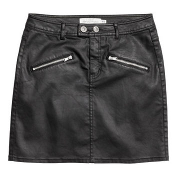 H&M Coated Biker Skirt $29.99