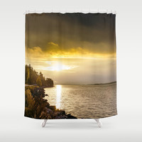 Morning gold I Shower Curtain by HappyMelvin