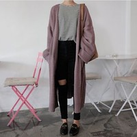 Open-Front Cardigan Coat