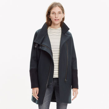 CITY GRID COAT IN COLORBLOCK