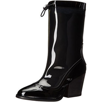 Love Moschino Womens Signature Ankle Rain Boots