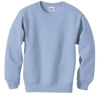 Hanes Youth ComfortBlend Long Sleeve Fleece Crew - p360