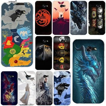 Games Thrones Wolf Soft TPU Cell Phone Cases Slim Cover for Samsung Galaxy Note 2 3 4 5 8 S2 S3 S4 S5 Mini S6 S7 S8 S9 Edge Plus