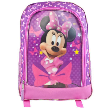 Minnie Mouse - Large Pink Bow Medium Backpack