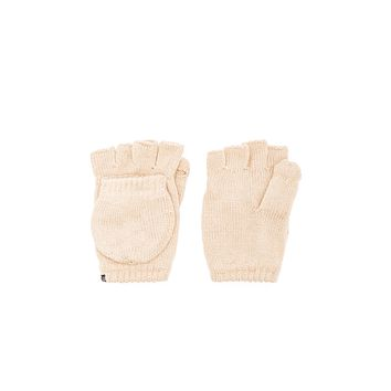 Plush Fleece Lined Fingerless Texting Mittens Tan