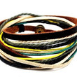 Mens Womens Real Leather and Cotton Ropes Woven by braceletcool