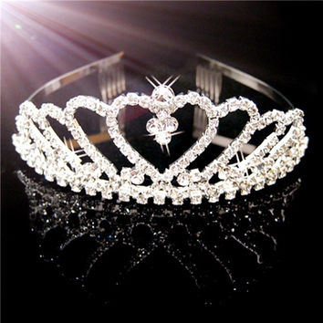Bride/Bridesmaid/Princess/Girl Tiara Crown Headband with Comb