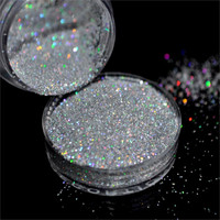 Laser Silver Holographic 0.2mm Powder Dust Acrylic Nails Art Glitter Tips Deco Gel UV Polish Nail Body Crafts Decoration N32