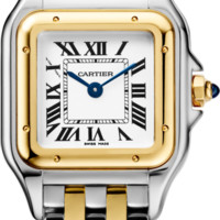 Panthère de Cartier watch: Panthère de Cartier watch, small model, quartz movement. Case in 18K yellow gold and steel