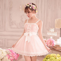 S/M/L Pastel Pinky Ballet Dress SP152343