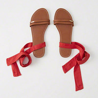 Womens Ankle Wrap Sandals | Womens New Arrivals | Abercrombie.com
