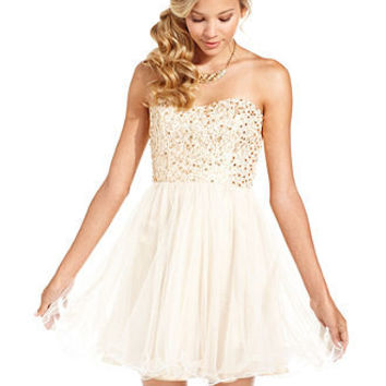 Speechless Juniors Dress, Strapless Sequin Corset - Juniors Prom Dresses - Macy's