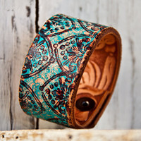 Turquoise Jewelry Cuff Bracelet by rainwheel on Etsy