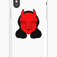 'Teary Tina' iPhone Case by snakz