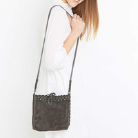 Vanessa Bruno Athé Anthracite Suede Etoile Mini Tote - Urban Outfitters