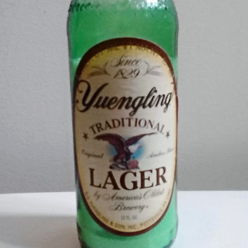 Beautiful Green Yuengling Beer Bottle 100% Natural Soy Candle