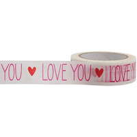 LOVE YOU Washi Tape, 15mm x 15m, with Cutter by Little B
