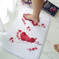 Autumn Fall welcome door mat doormat Blood Trail Foot Bath Mat  Scary Horror Style Halloween Decoration Hot Festival Scary Mat Covers Bedroom Accessories S60 AT_76_7