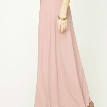 Button-Front Maxi Skirt