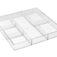 Whitmor 6789-3065 6-Section Clear Drawer Organizer