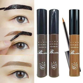 3 Color Eyebrow Makeup Eye Tint Brows Gel Make Up Grey Coffee Brown Henna Tattoo Eyebrow Gel Waterproof Cosmetics Professional