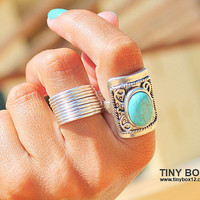 Tube Silver Ring - Silver ring - Wide Band Ring, Chunky  Ring, Gift for Her, Statement Ring, Stack Ring, Unisex Ring