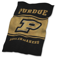 Purdue Boilermakers NCAA UltraSoft Fleece Throw Blanket (84in x 54in)