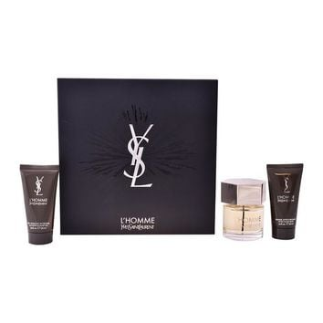 Men's Perfume Set Ysl L'homme Yves Saint Laurent (3 pcs)