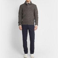Grayers - Wool and Linen-Blend Shawl-Collar Sweater | MR PORTER