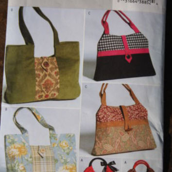 Butterick #B4364 Sewing Pattern Uncut Purses Handbags