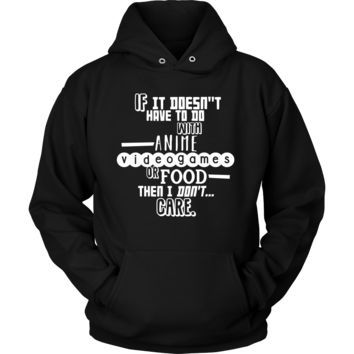Funny Hoodie - Anime and Food Quote Design