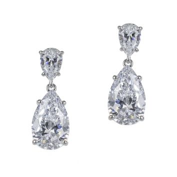 Double Pear Diamond Simulant Earrings