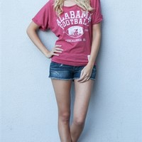 University of Alabama Dolman Off Shoulder Tee | SportyThreads.com
