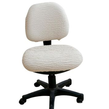 Removable Chair Cover High Elastic Office Chair Covers Stretch Computer Dining Chair Seat Covering Rotating Lift Slipcover