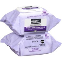 Equate Beauty Night-Time Soothing Makeup Remover Towelettes, 40 sheets, 2 count - Walmart.com
