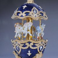 Faberge Egg with Horse Carousel