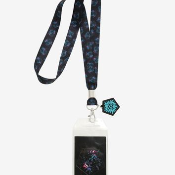 Licensed cool Supernatural Galaxy Anti-Possession Lanyard ID Card Holder Neck Strap Charm NWT