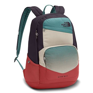 Wise Guy Backpack in Galaxy Purple & Sunbaked Red by The North Face